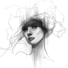 line drawing - reminds me of Bryce Dallas Howard