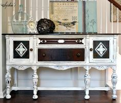 Sophia's: Classic Cottage Sideboard Makeover with Annie Sloan Chalk Paint in Pure White