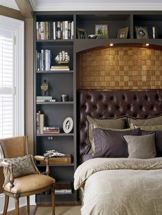 Traditional Bedroom Master Bedroom Design, Pictures, Remodel, Decor and Ideas - page 11 Small Master Bedroom, Home Bedroom, Modern Bedroom, Bedroom Decor, Bedroom Ideas, Bedroom Inspiration, Small Bedrooms, Single Bedroom, Bedroom Storage
