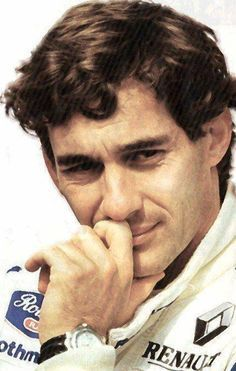 Ayrton in Williams outfit