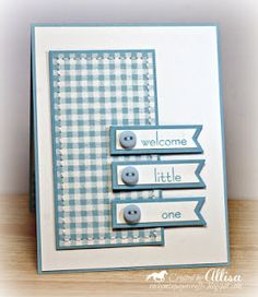 Blue, pink, green and yellow as birth announcements or thank you cards!