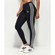 adidas 3 Stripe Dark Blue Leggings