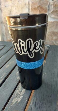 Thin Blue Line Mug. Police Wife Coffee Mug.