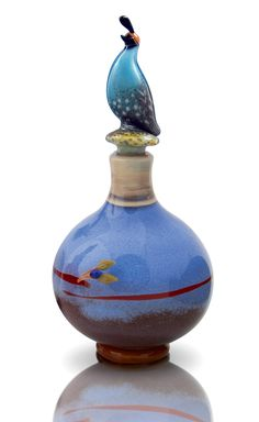 Bird Perfume Bottles by Chris Pantos (Art Glass Perfume Bottles) | Artful Home