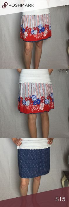 CAbi reversible skirt Can also be a top! Elastic waist fits a small. CAbi Skirts