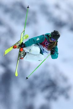 Amy Sheehan of Australia practices ahead of the Freestyle Skiing Ladies' Ski Halfpipe Qualification on day thirteen of the 2014 Winter Olympics at Rosa Khutor Extreme Park on February 2014 in. Get premium, high resolution news photos at Getty Images Freestyle Skiing, Ski Bunnies, Cycling Backpack, Bicycle Bag, Cycling Gloves, Funny Slogans, Snow Skiing, Winter Olympics, Winter Sports