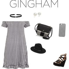 Gingham Chic by jillian-mancz on Polyvore featuring мода, Charlotte Russe, Kate Spade, Amanda Rose Collection, AK Anne Klein and Lack of Color