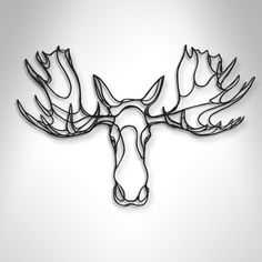 Moose Trophy sustainable wood wall sign | Hu2.com