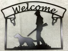 Metal Wall Art Plasma Cut Welcome signe par PetersonMetalDynamic