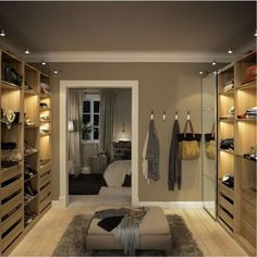 Take out walls and make dressing room with IKEA PAX - Home decor and design Ikea Closet, House Design, House, Interior, Master Bedroom Design, Home, Dream Closets, House Interior, Walk In Closet Ikea