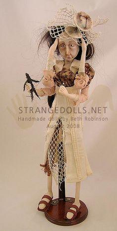 Beth Robinson Beautiful Fantasy Art, Beautiful Dolls, Bjd, Goth Art, Paperclay, Creepy Dolls, Human Art, Doll Maker, Doll Crafts