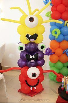 Balões Festa Monstrinhos do Pedro