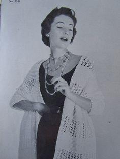 1950's Shawl...  Chal de los 50's...