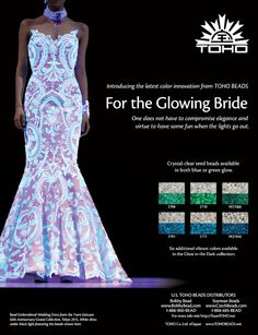 TOHO Glow in the Dark seed beads come in six crystal-clear colors