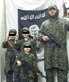 One angry tweet, accompanied by a picture of Sharrouf and his children all dressed in military fatigues, reads: 'The more u hate this path you infidel aussie dogs the happier feel dieinrage when you cant affect men lie about women.'He has also directly threatened Australian journalists and claimed 'Inshaallah soon in Aus' – which means 'God willing or if Allah wills', a clear sign he wishes to bring jihad back to Australia.I don't know why they are censoring these photos when there are ISIS