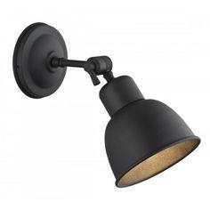 Loftowa industrialna metalowa lampa ścienna kinkiet Argon Eufrat 1x60W E27 czarny 3185