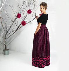 Maxi Skirt, High Low Skirt, Long High Waisted Skirt, Plus Size ...