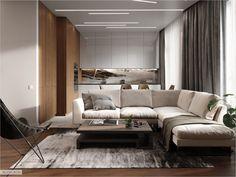 The design of interesting apartment in Riverside Home Interior Design, Modern Bedroom Decor, Interior Design, House Interior, Interior, Bedroom Design, Modern Bedroom, Home Decor, Furniture Design