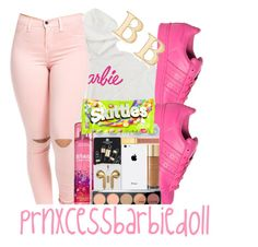"""Barbie's Dream: prnxcessbarbie"" by prnxcess-925 ❤ liked on Polyvore featuring adidas, River Island and Ross-Simons"