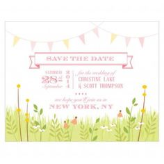Homespun Charm Wedding Save The Date Cards - These personalized homespun charm save the date cards are the perfect way to let your desired guests know when your wedding is! Personalize with the bride and groom's first names, wedding date, and other important information. Available in a variety of colors. #wedding #savethedate #daisydays