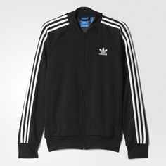 ​The iconic Superstar Track Jacket sports clean heritage style. Adidas Superstar Outfit, Adidas Outfit, Adidas Sportswear, Adidas Men, Pants Adidas, Champion Clothing, Tracksuit Jacket, Bomber Jacket, Adidas Fashion