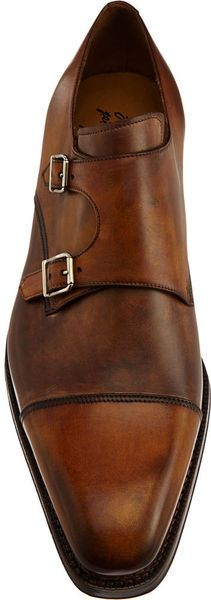 Harris Double Monk Shoe in Brown for Men (tan) - Lyst @Chris Cote Crane The buckles.