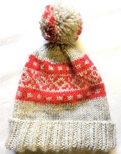 Hand Knit Women's Hat with Pom Pom  Wool hand by TheCraftyRascal, $55.00