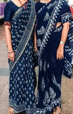 Indigo Sarees - beautiful Saree Blouse Designs, Blouse Patterns, Indian Attire, Indian Outfits, Indigo Saree, Formal Saree, Modern Saree, Simple Sarees, Indian Look