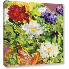 ArtWall Allan Friedlander Giving Love 2 inch Gallery-wrapped Canvas, Size: 18 x 18, White