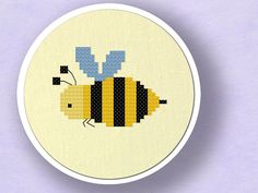 Honey Honey. Bee Cross Stitch Pattern PDF File by andwabisabi, $3.00