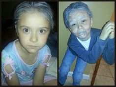 Old age makeup on my 5 year old niece