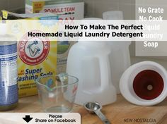 How To Make The Perfect Homemade Liquid Laundry Detergent - www.hometipsworld...