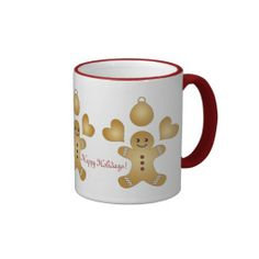 Personalized Cute Christmas Holiday Cookies Milk / Coffee Mugs for Kids and Bakers: Holiday Message Template Cups: #christmas