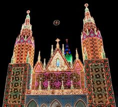 ... of Our Lady of Dolours in Trichur, India, is decorated in colorful lights on 25 November for the annual feast marking the consecration of the church.