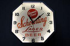 Schoenling Beer Neon Clock