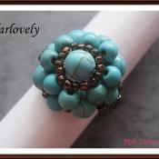 Vintage Turquoise Flower Ring (RG159) - via @Craftsy