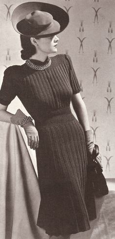 I am in love with this dress, it looks so classy and chic. Whats even better? I have a vintage crochet pattern that it so close to this; now I am inspired to get to work :-)
