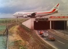 In 1978, it was decided that, with runway extensions, the airport could be upgraded to regional airport status. Work began in 1982, and was completed in November 1984. This included a significant extension to the main runway, including the construction of a tunnel to take the A658 Bradford to Harrogate road beneath the runway. The day the runway extension was officially opened, Wardair commenced transatlantic flights from Leeds Bradford to Toronto. Canadian Airlines, Jumbo Jet, Boeing 747, Military Aircraft, Leeds Bradford, Aviation, Vintage Airline, Air Lines