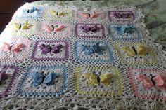 Transcendent Crochet a Solid Granny Square Ideas. Inconceivable Crochet a Solid Granny Square Ideas. Crochet Motifs, Crochet Quilt, Crochet Flower Patterns, Crochet Squares, Free Crochet, Crochet Blankets, Pattern Flower, Butterfly Pattern, Doily Patterns