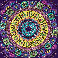 Mi a teendőd most, amikor nyílik a energiakapu? Psychedelic Colors, Mandala Dots, Cool Walls, Geometric Art, Beach Mat, Outdoor Blanket, Ornaments, Wallpaper, Floral