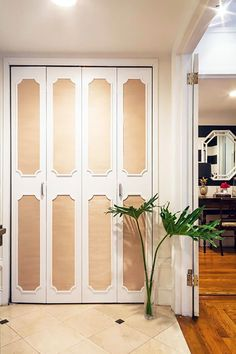 Closet Door Makeovers That Look Like a Million Bucks- or cork for showcasing a few items