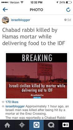 Rabbi killed delivering food on Gaza border