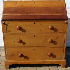 VERY OLD SOLID PINE BUREAU DRAWERS VINTAGE EXCELLENT OLD PIECE OF FURNITURE