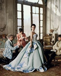couture blue dresses | ... Christian Dior Spring 2009 Couture Collection Blue Dress Photograph