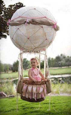 Hot air balloon photo prop photography, 1st birthday, photo ideas  www.rachelle-lee-photography.com