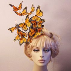 Effie butterfly fascinator - hat hair piece Hunger Games inspired on Etsy, $48.00