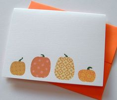 cute pumpkin cards