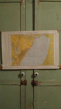 """For sale at Retrophoria.com, $25.00 - Paper Map 22"""" x 14 1/2"""""""