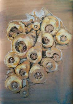 untitled parsnips no.2 Vegetables, Painting, Collection, Art, Art Background, Painting Art, Kunst, Vegetable Recipes, Paintings