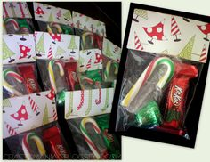 Simple Gift ... put goodies in a small plastic Ziploc bag and then fold over a holiday themed piece of cardstock paper. Great idea for co-workers :) School Christmas Gifts, Christmas Food Gifts, Christmas Bags, Christmas Love, Holiday Crafts, Christmas Ideas, Homemade Christmas, Christmas Decor, Missionary Gifts